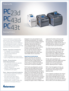 Intermec PC23 PC43 brochure