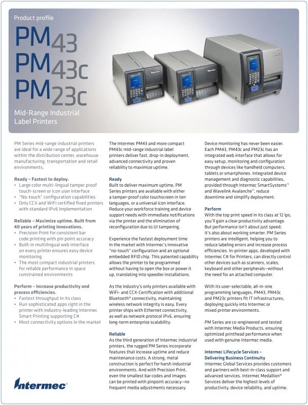 Intermec PM23 PM43