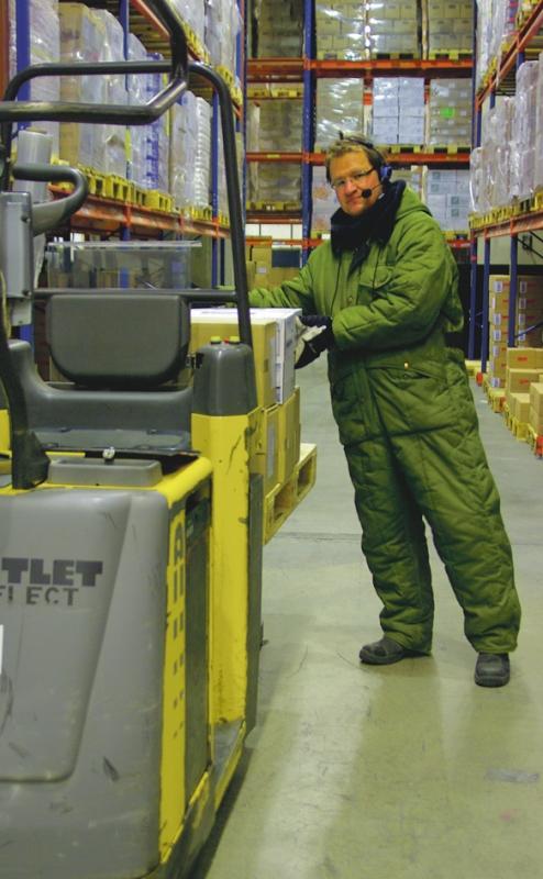Picking in BergendahlsGruppen warehouse